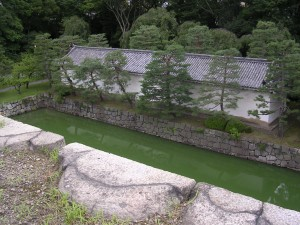 The moat, Nijo Castle, Kyoto, photo by jbg