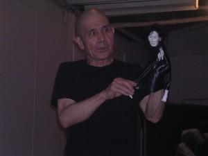 Yoshito with Kazuo puppet